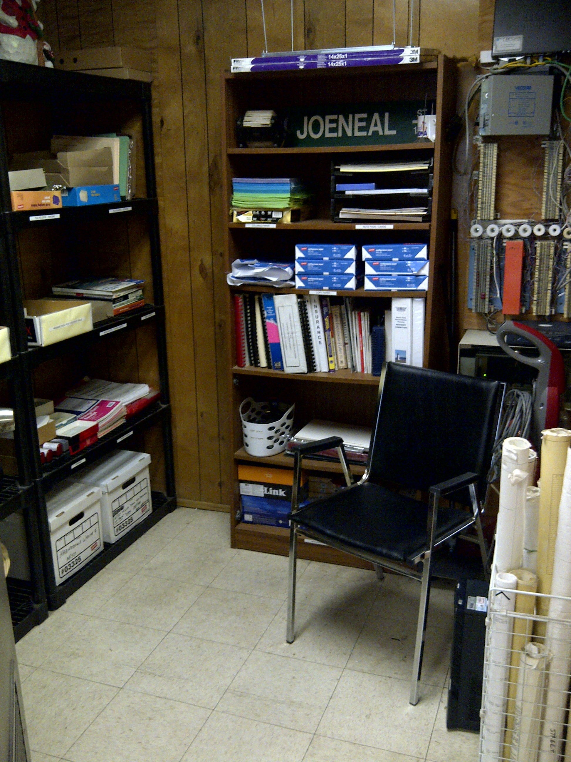 office supplies storage. AFTER Entrance Office Supplies Storage Room  Sensible Organizing Solutions